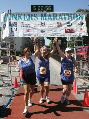 Karen Queally 100th marathon 13 yr run streak 1-9-10